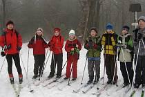 Děti z chodovické ZŠ v Orlických horách.