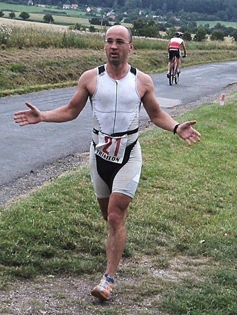 Triatlonista Rudolf Cogan.
