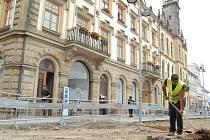 Rekonstrukce náměstí Jiřího z Poděbrad v rámci akce Hořice - město bez bariér.