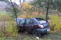 Střet dvou automobilů u Sobotky.
