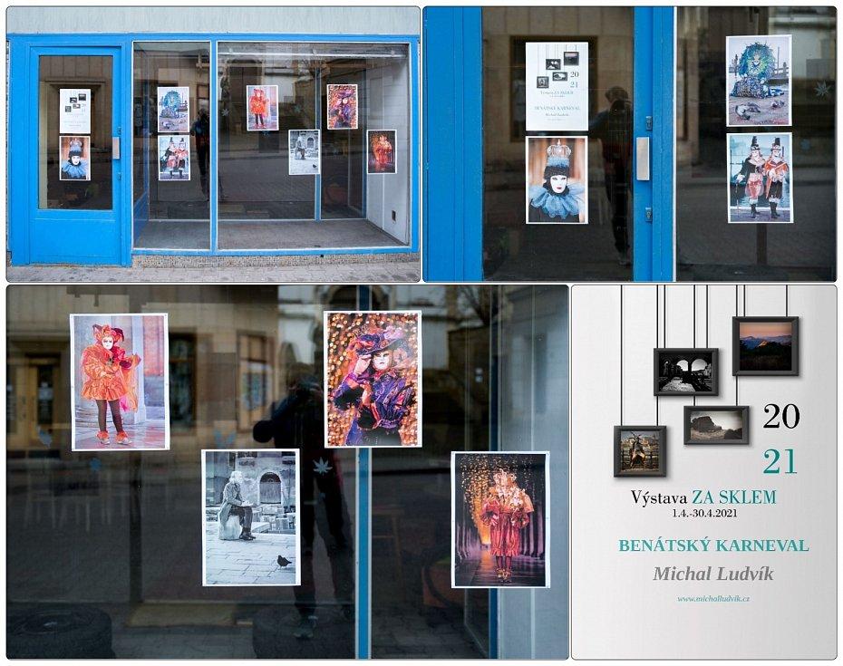 Hořický fotograf Michal Ludvík se zapojil do celostátní akce Výstavy Za sklem a přenesl svými snímky do Hořic atmosféru masek z italských Benátek.