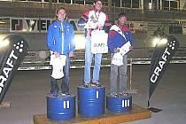 Trojice nejlepších, v kategorii H 20 zleva Štěpán Kodet, Adam Chromý a Michal Drobník.