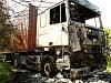 Požár kamionu u Markvartic na Jičínsku.