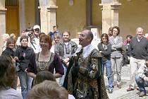 VÉVODA ALBRECHT na návštěvě v Jičíně v rámci Valdštejnských slavností.