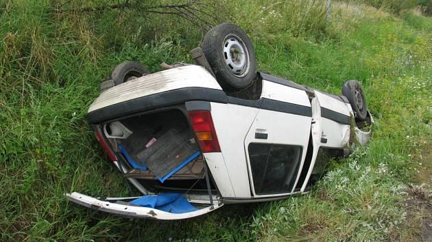 Dopravní nehoda u Kněžnice.