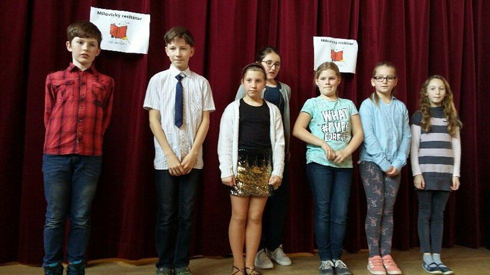 Školáci předvedli své recitační schopnosti.