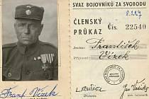 Legionář František Vízek.
