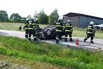 Dopravní nehoda u Svatojánského Újezdu si vyžádala dvě zraněné osoby.