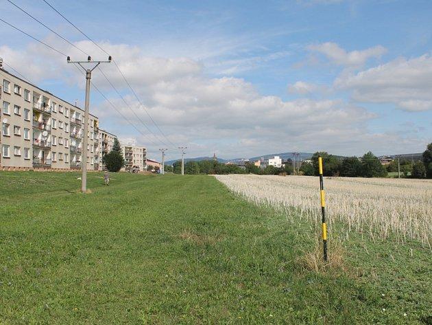 Zóna v Jičíně kolem Cidliny.