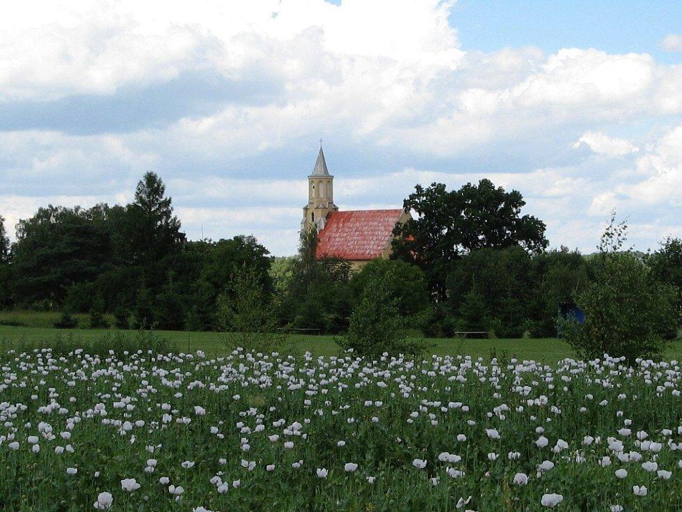 Kostel ve Slezských Pavlovicích.