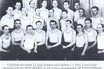 Cvičenci lomnického Sokola, rok 1939.
