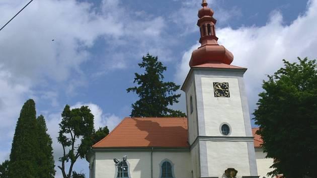 Chodovický kostel sv. Bartoloměje.