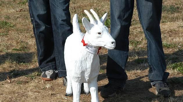 Sádrová koza.