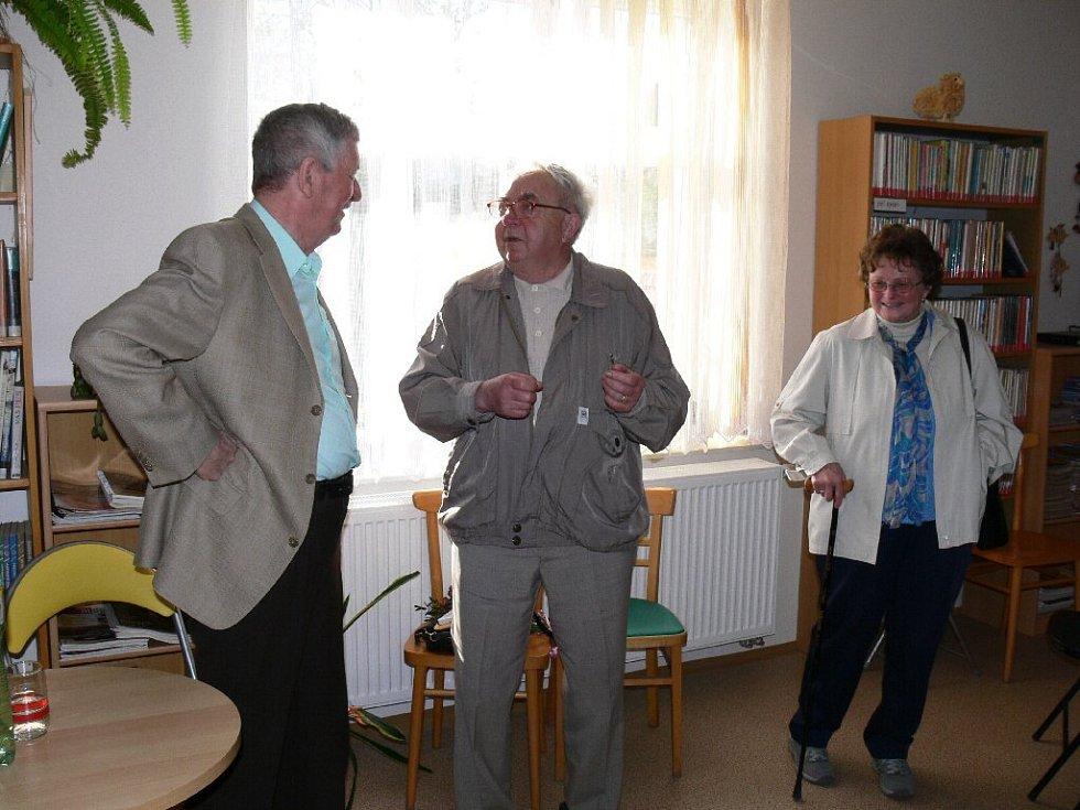 Stanislav Rudolf s přítelem Jaroslavem Kaplanem.