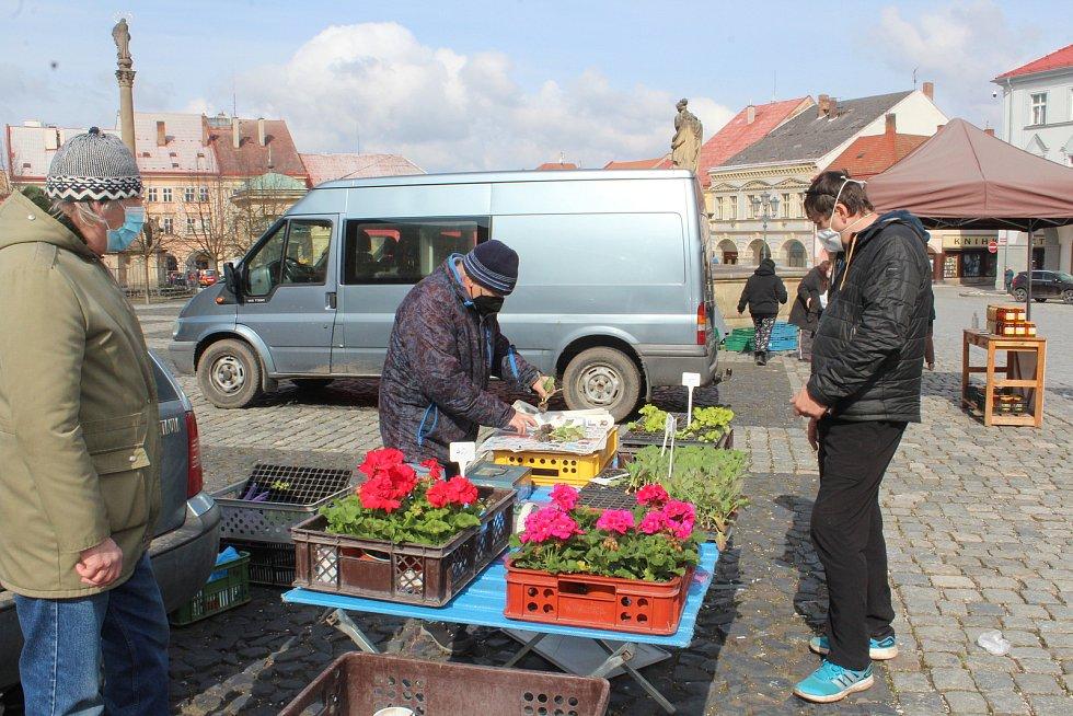 Farmářské trhy v Jičíně s nesmělým nástupem