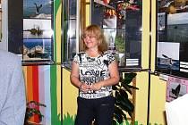Dana Verzichová při vernisáži výstavy Expedice Dahaex 2007.