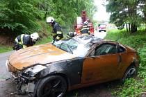 Štikov: hasiči poskytli zraněnému první pomoc.