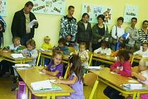 Vojtův první školní den.