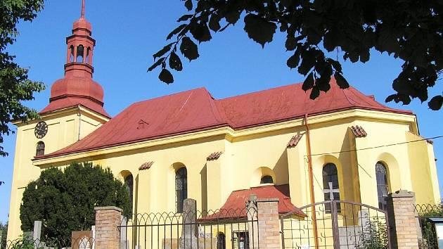 Běcharský kostel sv. Vojtěcha.