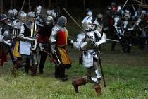 Zábavný den s programem gotické bitvy v Radvánovicích u Turnova.