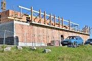 Výstavba nové Petrovy boudy.