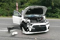 Srážka automobilů u Hořic