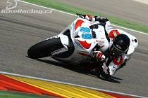 FRASER ROGERS, jezdec jičínského týmu COM PLUS SMS RACING při závodu v Aragonu.