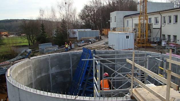 Březovická úpravna vody - nová akumulace.