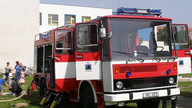 Z návštěvy hasičů ve školce.