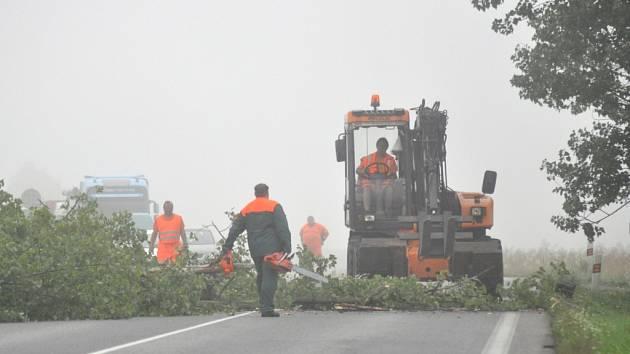 Do stromu uhodil blesk. K zemi šel ale bezpečně   Dnes v osm hodin ráno byla zastavena doprava na hlavní silnici I/16 od Nové Paky směrem na Jičín. Během nedávných bouřek uhodil blesk do stromu stojícího u křižovatky na Radim.