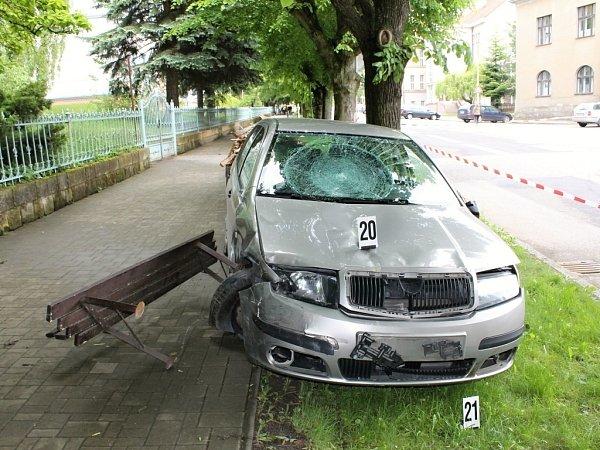 Zmísta tragické nehody vSobotce.