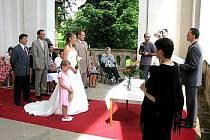 Svatba v lodžii.