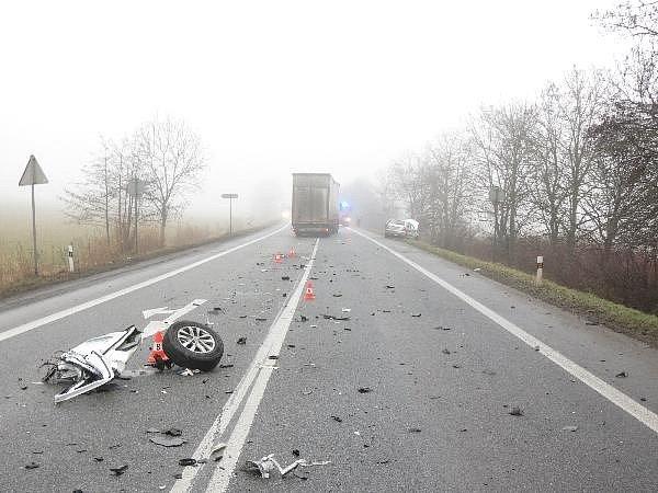 Nehoda u Oseku poblíž Sobotky