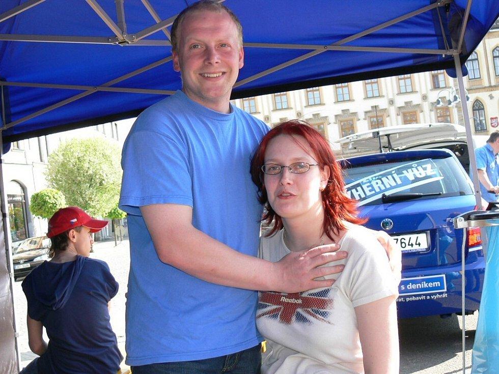 Odpoledne si na naší akci zpestřil také Pavel Malý s přítelkyní.