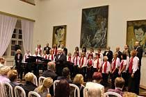 Z koncertu sboru Foerster v Porotním sále.