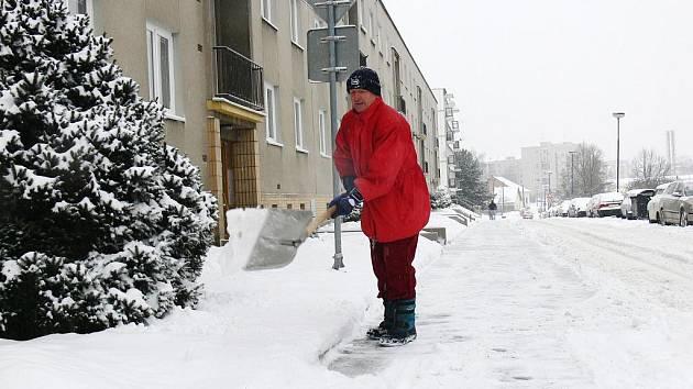 Zasněžený Jičín.