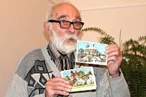 Z výstavy pohlednic Jiřího Škopka v Železnici.