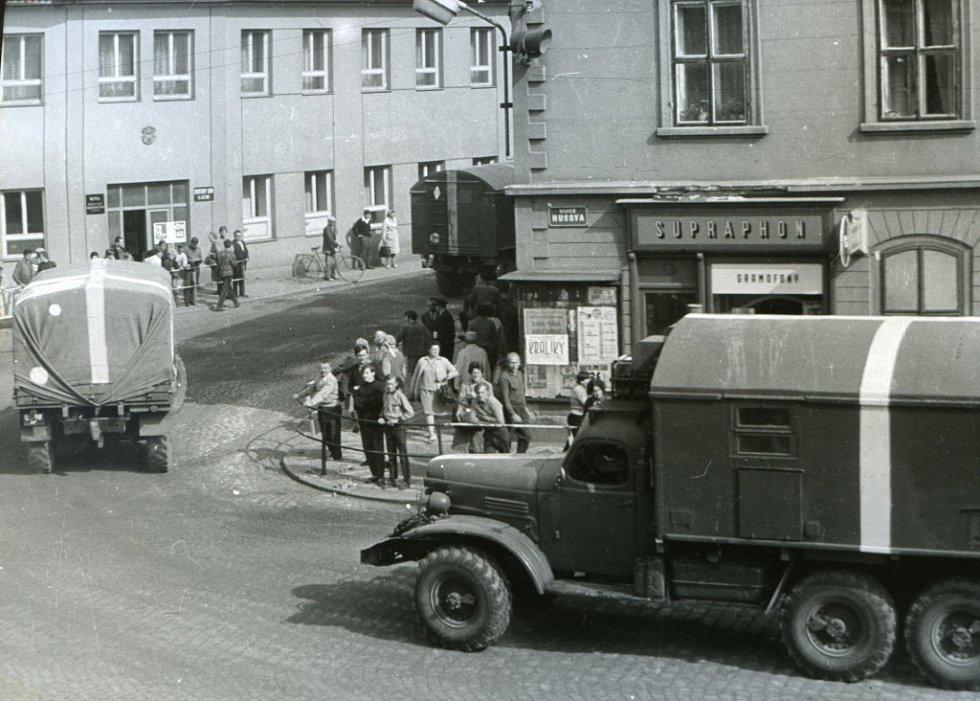 Jičín roku 1968, Žižkovo náměstí.