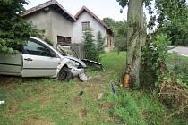 Nehoda fordu v Kněžnici.