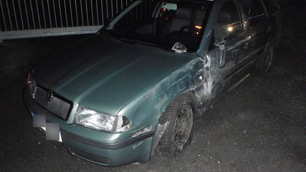 Dopravní nehoda u Vrchoviny.