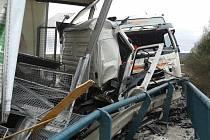 Tragická nehoda na obchvatu Jičína.