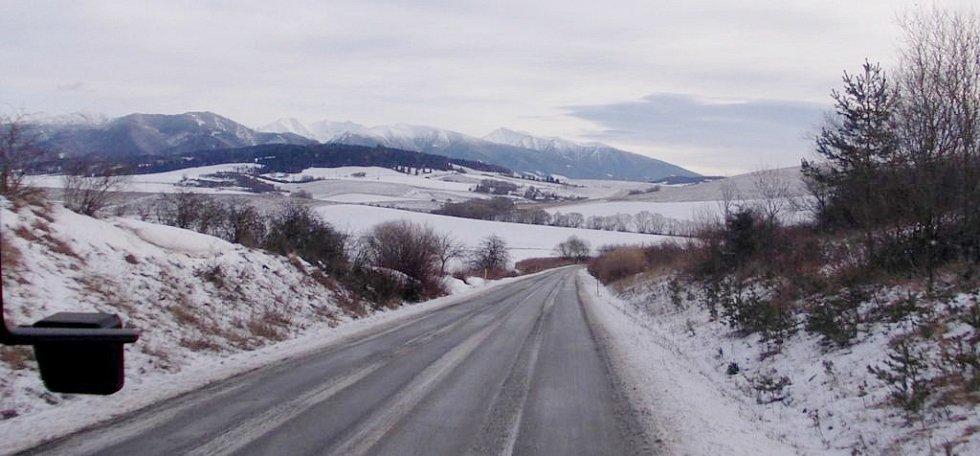 Výhled na Nízké Tatry.