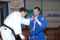 Vpravo jičínský judista Michal Vaníček, který na mistrovství ČR vybojoval páté místo.