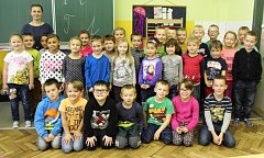 Žáci I. třídy ZŠ a MŠ Libáň