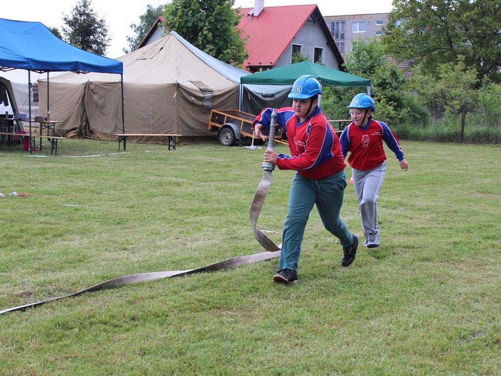 Soutěž mladých hasičů ve Valdicích.
