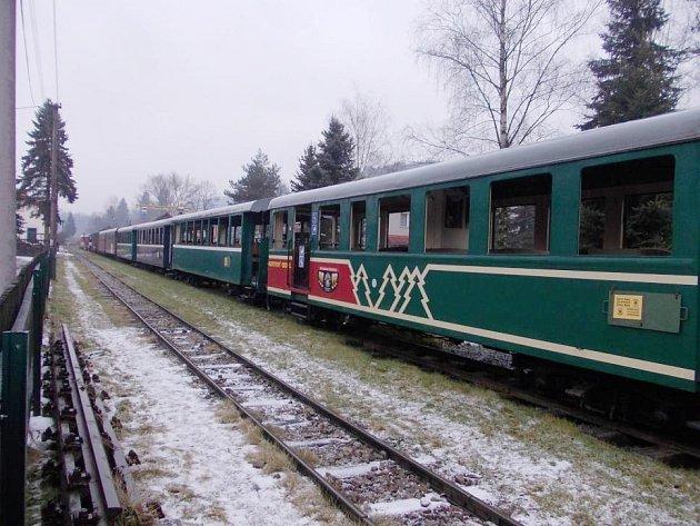 Cesta vlakem po Slovensku.