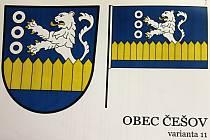 Znak a prapor obce Češov.