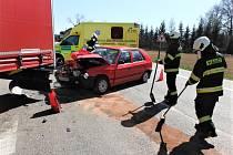 Dopravní nehoda v Dřevěnici
