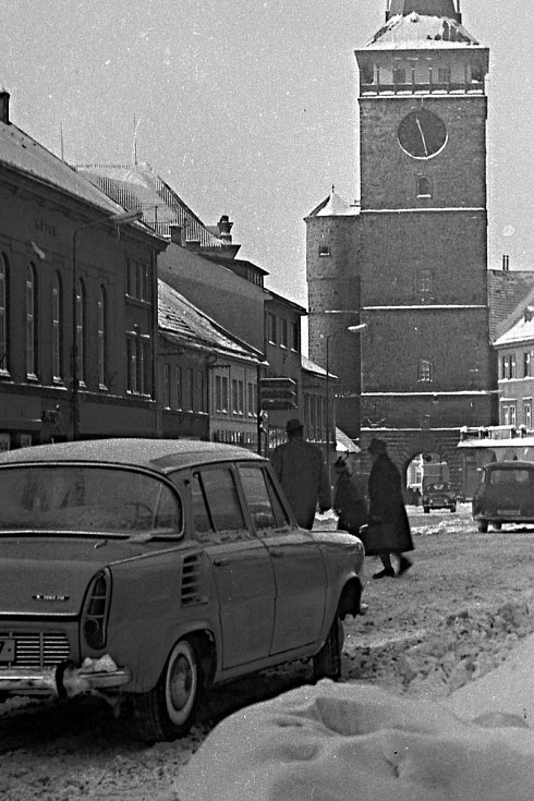 Jičín v zimě roku 1968.