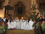 Vánoční koncert v markvartickém kostele.